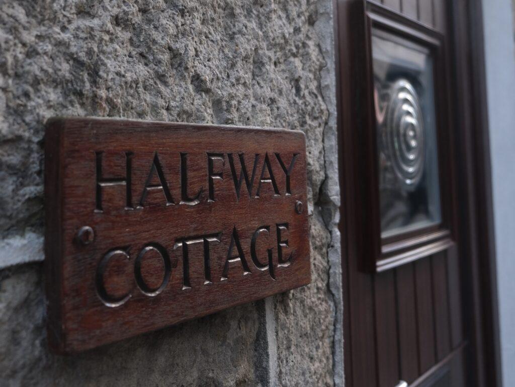 front door Halfway Cottage