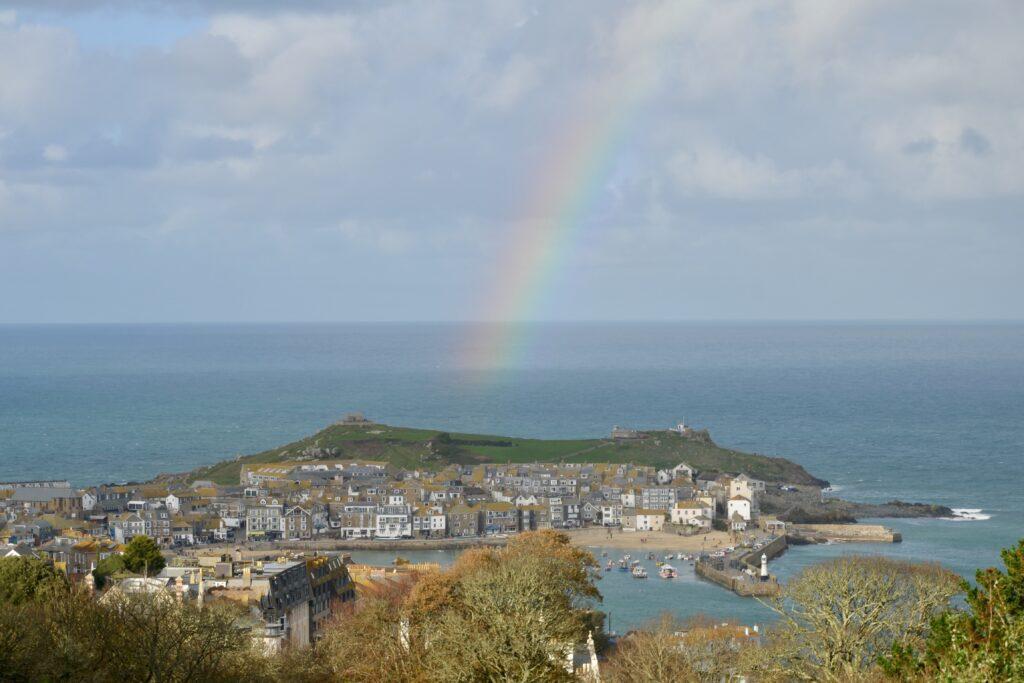 rainbow over St. Ives
